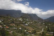 Town in a mountain range, Mare Seche, Cirque de Cilaos, Reunion Island by Panoramic Images