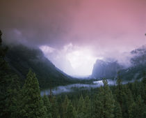 Storm clouds over mountains, Yosemite National Park, California, USA by Panoramic Images