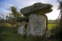 The Megalithic Knockeen Dolmen, Near Tramore, County Waterford, Ireland by Panoramic Images