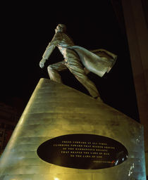 Low angle view of a statue of Adam Clayton Powell Jr by Panoramic Images