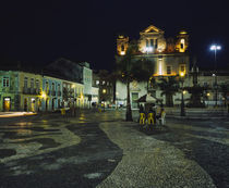 Buildings lit up at night, Terreiro de Jesus, Pelourinho, Salvador, Brazil by Panoramic Images