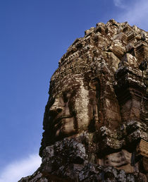 Low angle view of a face carving, Angkor Wat, Cambodia von Panoramic Images