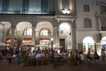 Tourists at a sidewalk cafe, Plaza 9 De Julio, Salta, Argentina by Panoramic Images