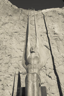 Low angle view of a statue at a dam, Boulder City, Hoover Dam, Nevada, USA by Panoramic Images