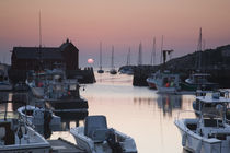 Boats at a harbor, Rockport Harbor, Rockport, Cape Ann, Massachusetts, USA by Panoramic Images