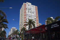 Buildings in a city, Avenida Juan Gorlero, Punta Del Este, Maldonado, Uruguay by Panoramic Images
