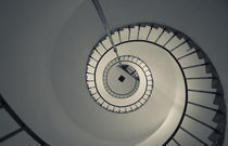 Spiral staircase in a lighthouse von Panoramic Images