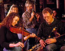 Traditional Music Session, Bray, Co Wicklow, Ireland by Panoramic Images