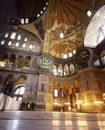 Interiors of a museum, Aya Sofya, Istanbul, Turkey by Panoramic Images