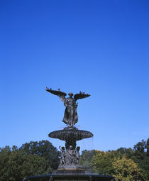 Fountain in a park by Panoramic Images