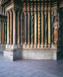 Multi-colored carved columns of a cathedral by Panoramic Images