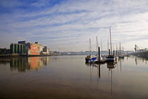 Early Morning River Suir, Waterford City, County Waterford, Ireland von Panoramic Images