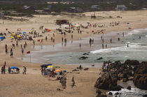 Tourists on the beach, El Desplayado, La Pedrera, Rocha Department, Uruguay by Panoramic Images