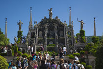 Tourists at terraced gardens von Panoramic Images