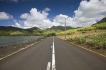 Highway at a coast, Grand Sable, Mauritius by Panoramic Images