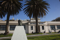 Statue in front of a museum, Naval Museum, Pocitos, Montevideo, Uruguay by Panoramic Images