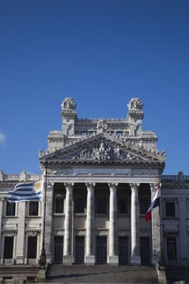 Facade of a government building, Palacio Legislativo, Montevideo, Uruguay by Panoramic Images