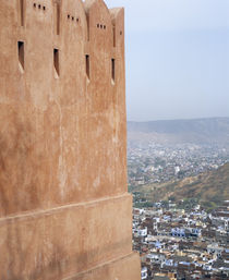 View from temple of Monkeys, J aipur, Rajasthan, India by Panoramic Images