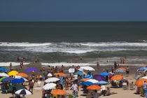 Tourists enjoying on the beach, Playa Brava, Punta Del Este, Maldonado, Uruguay by Panoramic Images