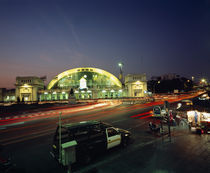 Rail Station at night, Bangkok, Thailand by Panoramic Images