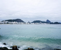 Buildings at the waterfront, Copacabana Beach, Rio De Janeiro, Brazil by Panoramic Images