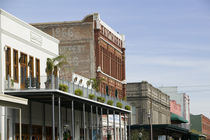 Buildings along the strand, Galveston, Texas, USA by Panoramic Images