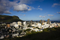 High angle view of a city, Port Louis, Mauritius by Panoramic Images