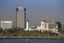 City viewed from a port, Long Beach, Los Angeles County, California, USA von Panoramic Images