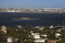 Buildings at the waterfront, Cerro De Montevideo, Montevideo, Uruguay by Panoramic Images