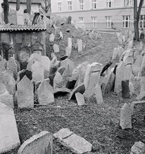 Tombstones in a cemetery by Panoramic Images