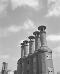 Low angle view of chimneys, Buenos Aires, Argentina by Panoramic Images