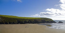 Riders on Stradbally Strand, the Copper Coast, County Waterford, Ireland by Panoramic Images