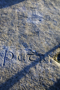 St Patrick's (claimed) Burial Stone by Panoramic Images