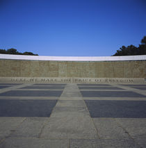 Wall of a war memorial, National World War II Memorial, Washington DC, USA by Panoramic Images