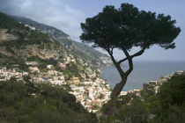 High angle view of a town, Positano, Amalfi Coast, Campania, Italy by Panoramic Images