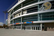 Low angle view of a sports stadium, Alamodome, San Antonio, Texas, USA by Panoramic Images