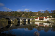 Avonmore Bridge over the Blackwater River and Cappoquin Rowing Club Boathouse by Panoramic Images