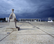Statue at a courtyard, Palacio Do Planalto, Brasilia, Brazil by Panoramic Images
