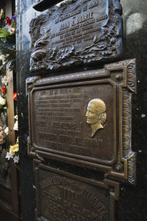 Tombstone of Eva Duarte Peron in a cemetery by Panoramic Images
