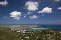 High angle view of a town at the coast, Port Mathurin, Rodrigues, Mauritius by Panoramic Images