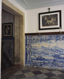 Decorative tile work on the wall of a church von Panoramic Images