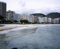 Buildings at the waterfront, Copacabana Beach, Rio De Janeiro, Brazil von Panoramic Images