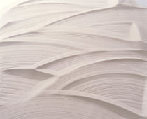 White plaster with striated pattern von Panoramic Images