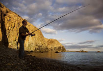 Angling at Stage Cove, Copper Coast, County Waterford, Ireland by Panoramic Images