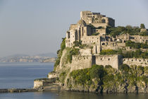 Castle on an island, Castello Aragonese d' Ischia, Naples, Campania, Italy by Panoramic Images