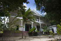 Low angle view of a doctor's house in a former Leper colony by Panoramic Images