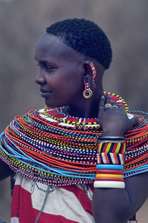 Side profile of a Samburu tribal woman von Panoramic Images