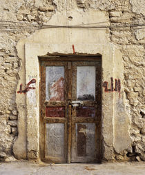 Closed door of a building, Syria by Panoramic Images
