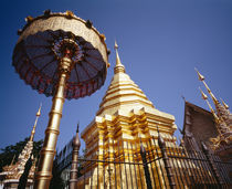 Golden Chedi, Wat Phrathat Doi Suthep, Chiang Mai Province, Thailand von Panoramic Images
