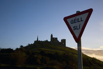 Gaelic Stop Sign, Below the Rock of Cashel, County Tipperary, Ireland by Panoramic Images